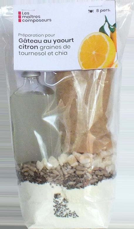 Gateau Au Yaourt Citron Graines De Tournesol Chia