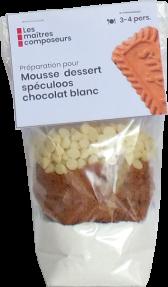 Mousse Dessert Speculoos Chocolat Blanc