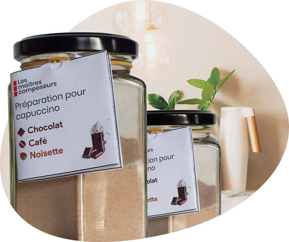 Capuccino chocolat café noisette